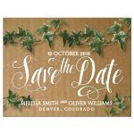 Save the Date Cardboard Ivy