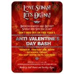 Anti Valentines Day Party Invitation - Love Stinks, Let's Drink