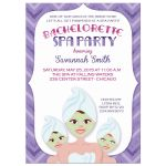 Spa Party Bachelorette Girls Day Out Invitations