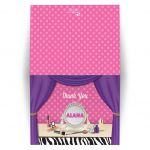 Birthday Party Thank You Card - Makeover Spa Tween