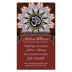 Lilac Sparkle OM Yoga Business Card