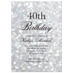 Silver Birthday Invitation