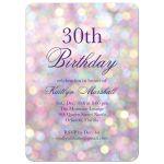 Sparkly Birthday Invitation