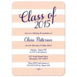 Blush pink glitter class of 2015 graduation announcement / party invitation