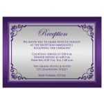 Purple and Silver Wedding Enclosure card with scrolls