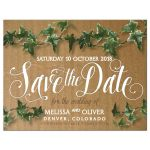 Cardboard Ivy Save the Date Magnet