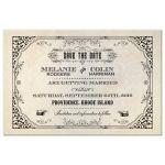 Save the Date Postcard - Vintage Grunge Damask Steampunk