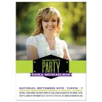 Bachelorette Hens Party Invitation - Modern Glitter Look Photo Band Green Purple