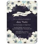 Class of 2015 floral anemone graduation announcement party invite