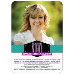 Bachelorette Hens Party Invitation - Turquoise Purple Modern Glitter Look Photo Band