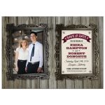 Save the Date Card - Rustic Wood and Picture Frames
