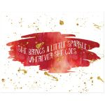 11x14 red and gold glitter on watercolor art print with sparkle.
