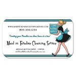 Funky Teal Stripes With Zebra Pattern Cleaning Service Business Card