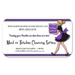 Funky Purple Stripes With Zebra Pattern Cleaning Service Business Card
