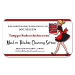 Funky Red Stripes With Zebra Pattern Cleaning Service Business Card