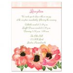 Gold gilded wedding enclosure cards with pink and peach watercolor flowers