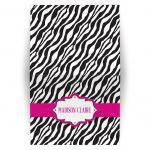 Personalized Folded Card - Pink Ribbon Zebra Print