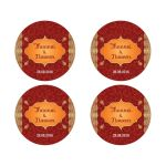 Wedding Stickers - Crimson Indian Paisley Gilded Edge