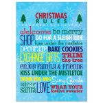 5x7 Art Print - Christmas Rules