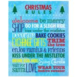 8x10 Art Print - Christmas Rules