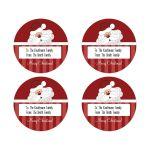 Santa Claus Round Gift Tag Sticker