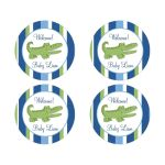 Alligator Baby Shower Favor Stickers