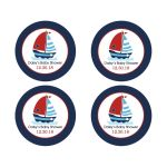 Sailboat Favor Sticker
