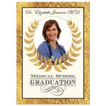 Best medical School Graduation invitation with photo, laurel wreath, and medical symbol