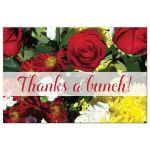 Affordable thank you postcard with flowers