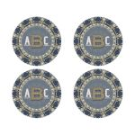 Boho Chic Glitter Monogram Round Stickers