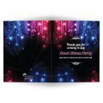 Sweet 16 Thank You Card - Magic Neon Grunge Glow Lights