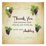 Gift Favor Tag - Vineyard Wine and Grapes Bridal Wedding Shower
