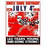 Digitally Restored 8x10 Art Print of Uncle Sam's Birthday Party