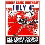 Digitally Restored Art Print of Uncle Sam's Birthday Party
