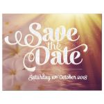 Frangipani Sunset Save the Date Announce Card