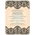 Bridal Wedding Shower invitation - Sheer Black Lace