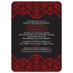Bridal Wedding Shower invitation - Sheer Red Lace