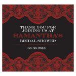 Beverage Label - Sheer Red Lace Bridal Wedding Shower