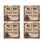 wedding favor thank you stickers with a rustic wild west Western Theme