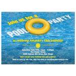 Party Invitation - Yellow Floatie Pool Birthday Party