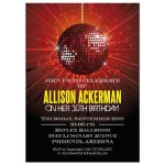 Party Invitation - Red Mirror Ball Birthday Celebration