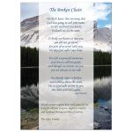 photo memorial card with poem