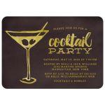 Retro Martini Cocktail Party Invitations front