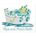 Frog in Tub Bathroom Art
