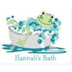 Girl Frog in Tub Bathroom Art Print