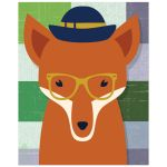 8x10 Whimsical Fox Wall Art