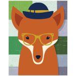 11x14 Whimsical Fox Wall Art