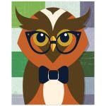 8x10 Whimsical Owl Wall Art