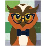 11x14 Whimsical Owl Wall Art