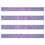 Wedding Reply Card - Retro Purple Glitter Stripes RSVP